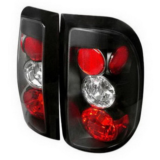 97-04 Dodge Dakota Altezza Style Black Euro Tail Lights