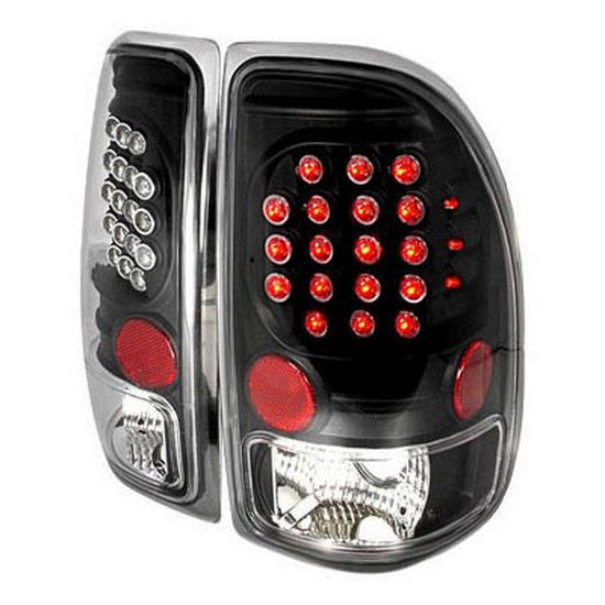 Dodge dakota black housing euro style led tail lights