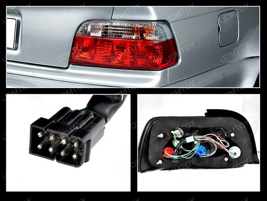 92 98 Bmw E36 3 Series Red Euro Tail Lights