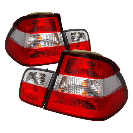 92 98 Bmw E36 3 Series 2dr Red Clear Euro Style Altezza Tail Lights