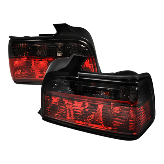 92-98 BMW E36 3 SERIES 4DR Red/Smoke Lens Euro Style Altezza Tail Lights