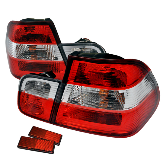 00-03 BMW E46 3 SERIES 4DR Red Lens Euro Style Altezza Tail Lights
