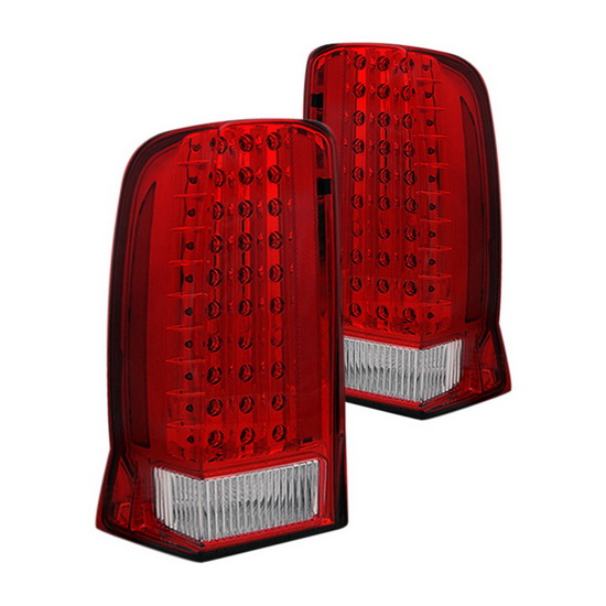 02-04 Cadillac ESCALADE Red Housing LED Tail Lights