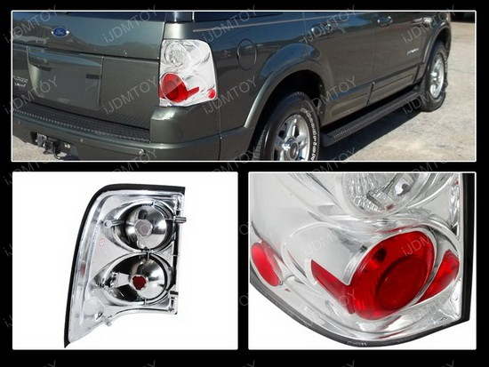 02-04 Ford Explorer Altezza Style Chrome Euro Tail Lights
