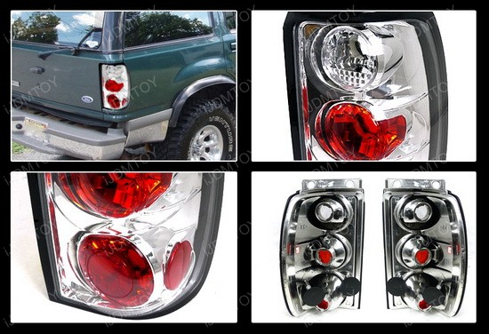 95-97 Ford Explorer Altezza Style Chrome Euro Tail Lights