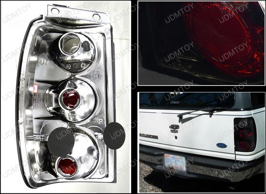 LT EPOR95BB TM 4 95 97 ford explorer black housing smoke lens euro style tail light Fog Light Wiring Harness Kit at n-0.co