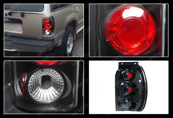 spec d 1998 2001 ford explorer altezza style black euro tail lights. Black Bedroom Furniture Sets. Home Design Ideas