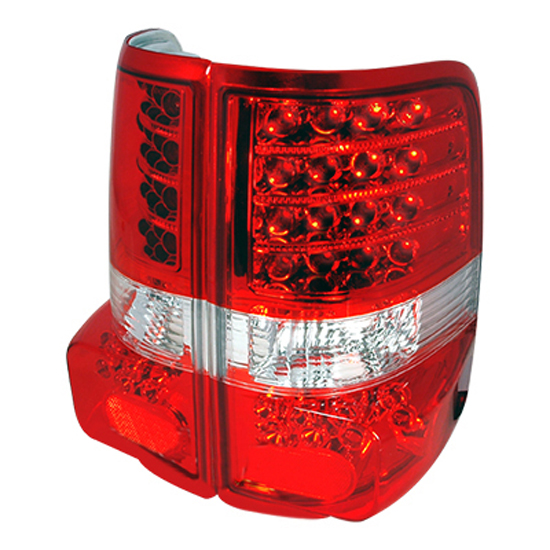 2004-2007 Ford F150 Red Lens Euro Style LED Tail Lights