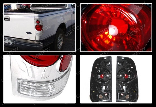 01-03 Ford F150 Altezza Style Chrome Euro Tail Lights