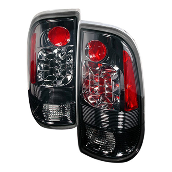 97 03 ford f150 f250 smoke lens euro style led tail lights. Black Bedroom Furniture Sets. Home Design Ideas