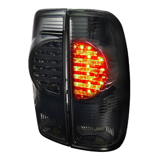 97 03 ford f150 chrome housing smoke lens led tail lights. Black Bedroom Furniture Sets. Home Design Ideas