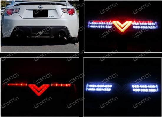 Scion Fr S Subaru Brz Clear Lens Led 3rd Brake Light Assembly