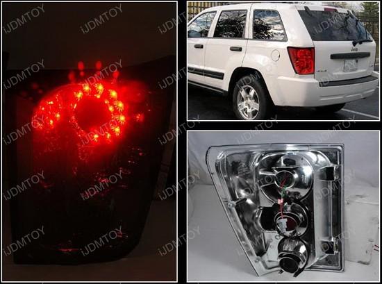 2005 2006 jeep grand cherokee 4 door red lens led tail lights. Black Bedroom Furniture Sets. Home Design Ideas
