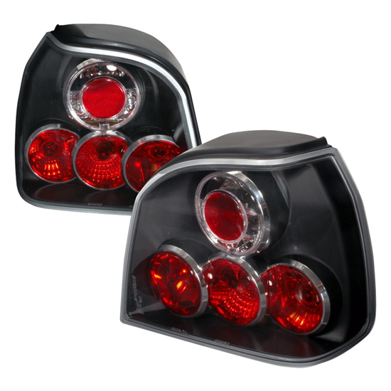93-98 Volkswagen Golf Altezza Style Black Euro Tail Lights