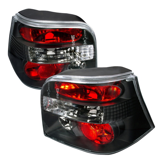 99-06 Volkswagen Golf Altezza Style Black Euro Tail Lights