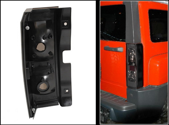 2005 2008 Hummer H3 Smoked Lens Euro Style Altezza Tail Lights