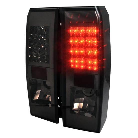 05-08 Hummer H3 Red Lens LED Tail Lights