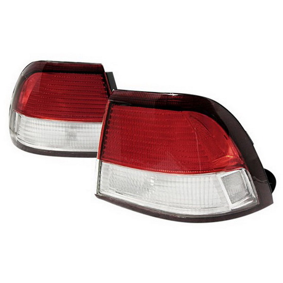 97-99 Nissan Maxima Altezza Style Red/Clear Euro Tail Lights