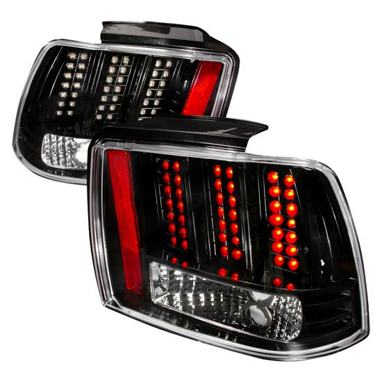 99 04 ford mustang black housing led tail lights. Black Bedroom Furniture Sets. Home Design Ideas