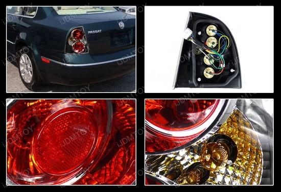 01-05 Volkswagen Passat Sedan Altezza Style Black Euro Tail Lights