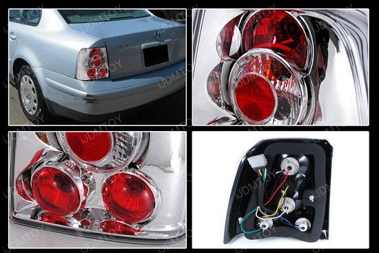 97-00 Volkswagen Passat Sedan Altezza Style Chrome Euro Tail Lights