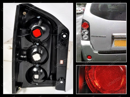05 12 Nissan Pathfinder Altezza Style Black Euro Tail Lights