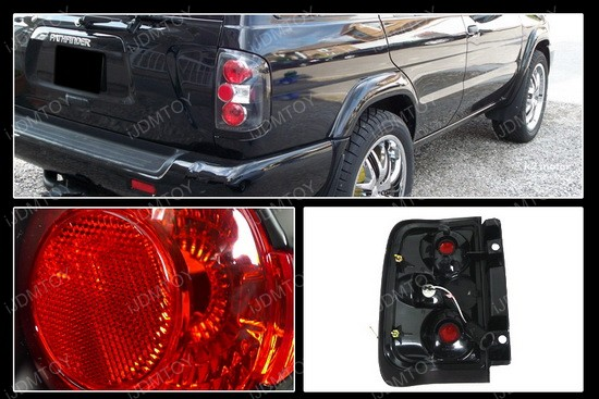 96 98 Nissan Pathfinder Altezza Style Black Euro Tail Lights