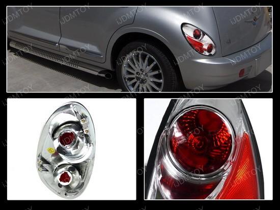 01-05 Chrysler PT Crusier Chrome Euro Tail Lights