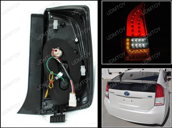 2010 2011 toyota prius red lens bmw style led tail lights. Black Bedroom Furniture Sets. Home Design Ideas