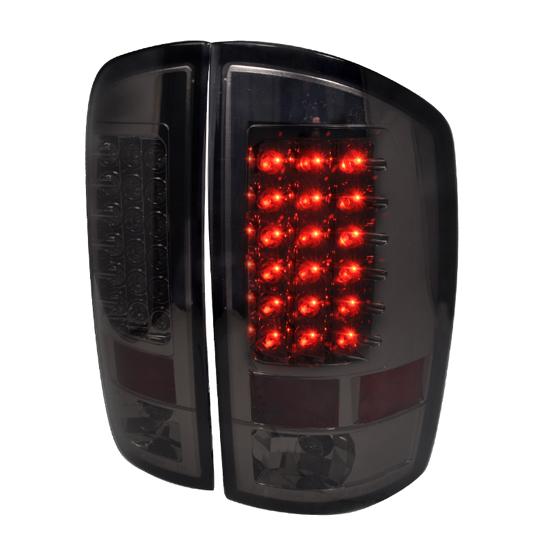 02-06 Dodge RAM 1500/2500/3500 Smoke Lens LED Tail Lights