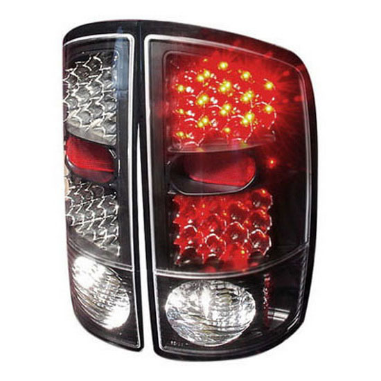 2002-2006 Dodge RAM Black Housing Euro Style LED Tail Lights
