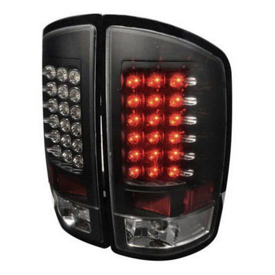 2002-2006 Dodge RAM Black Housing Euro Style LED Tail Lights