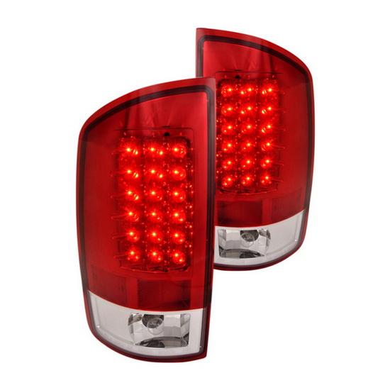 02-06 Dodge RAM Red Housing LED Tail Lights