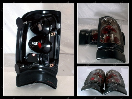 94-01 Dodge Ram Altezza Style Smoked Euro Tail Lights