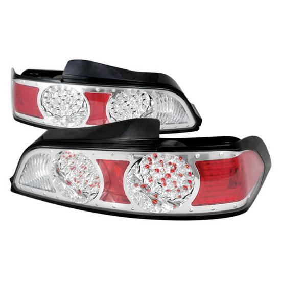 2005-2006 Acura RSX Chrome Housing LED Tail Lights