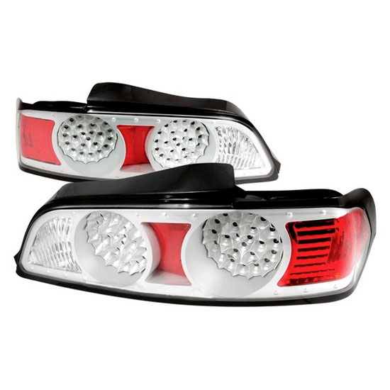 2005-2006 Acura RSX Silver Housing LED Tail Lights