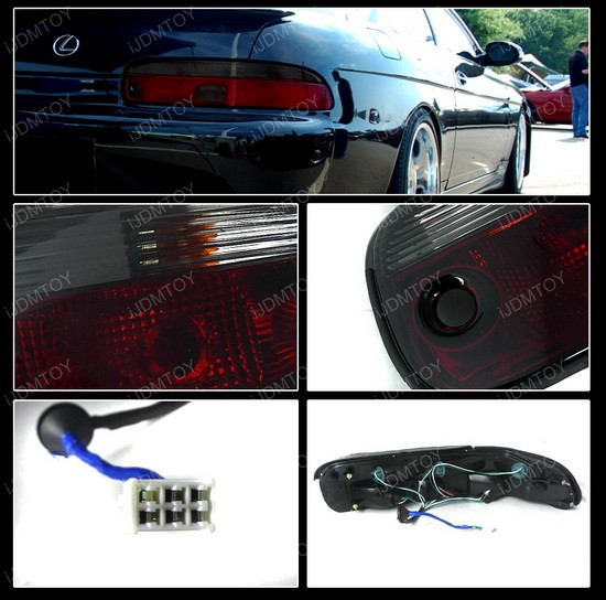 92-94 Lexus SC300 Altezza Style Red/Clear Euro Tail Lights