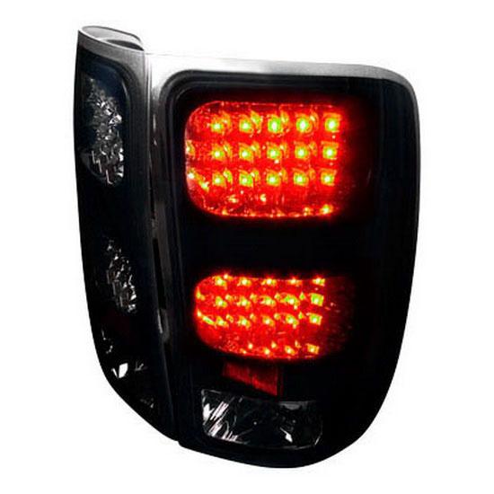 2007-2012 GMC SIERRA 1500 / 2500 / 3500 Black Housing Smoke Lens LED Tail Lights