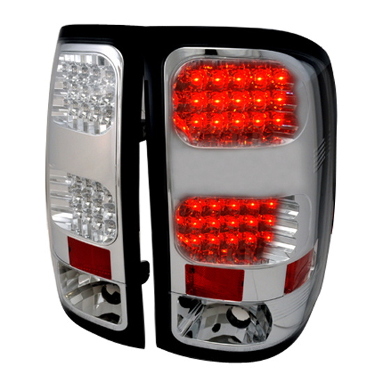 2007-2012 GMC SIERRA Chrome Housing LED Tail Lights