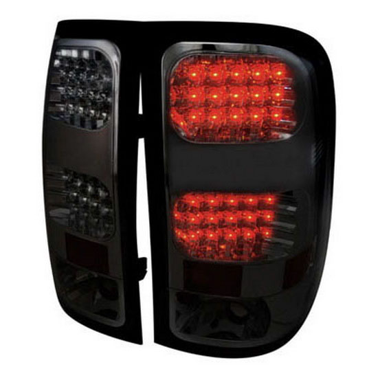 07 12 gmc sierra smoke lens led tail lights. Black Bedroom Furniture Sets. Home Design Ideas