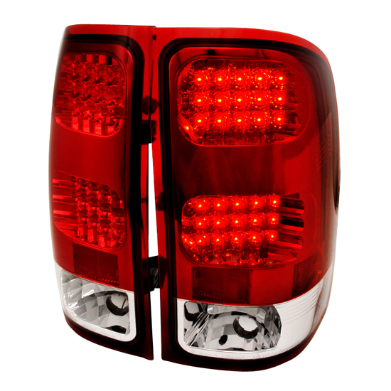 07-09 GMC SIERRA Red Lens LED Tail Lights