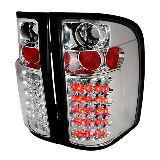2007-2010 Chevrolet SILVERADO New Body Style Only Chrome Housing LED Tail Lights