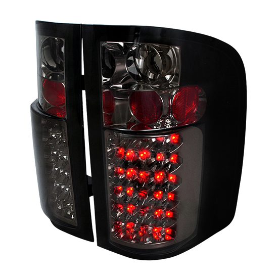 07-10 Chevrolet SILVERADO NEW BODY STYLE ONLY Smoke Lens LED Tail Lights