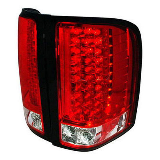 2007-2008 Chevrolet SILVERADO Red Lens LED Tail Lights