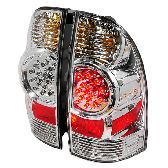 05 10 toyota tacome chrome housing led tail lights. Black Bedroom Furniture Sets. Home Design Ideas