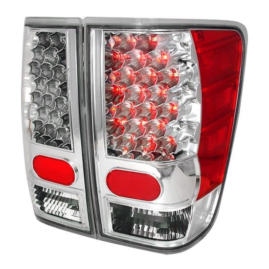 2004-2011 Nissan TITAN Chrome Housing LED Tail Lights