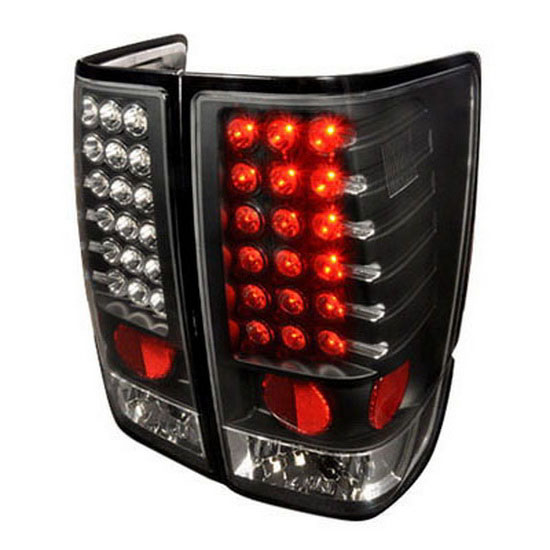 04-11 Nissan TITAN LE/SE/XE EXTENDED/CREW CAP PICK 4DR Black Housing LED Tail Lights