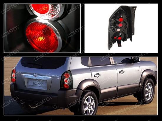 05-07 Hyundai Tucson Altezza Style Black Euro Tail Lights