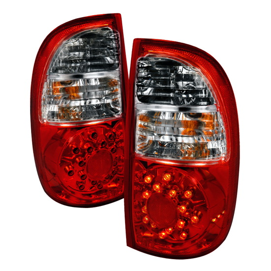 2005-2006 Toyota TUNDRA Red/Clear Lens LED Tail Lights