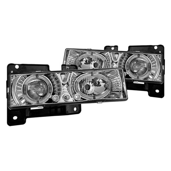 88-98 Chevy CK Chrome Housing Halo Projector Headlights